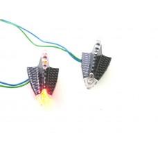 Lamp led set delta plak lamp rood/ huis carbon