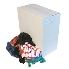 Bonte tricot poetslappen / poetsdoeken dik en dun - doos á 10kg