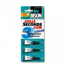 Bison Secondelijm Super Compact - 3 tubes á 1 gram