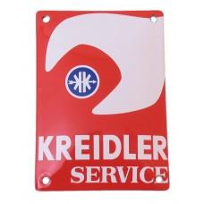 Emaille Plaat 14*10cm Kreidler Service