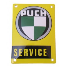 Emaille Plaat 14*10cm Puch Servce