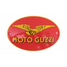 Emaille bord Ovaal 12cm Moto Guzzi