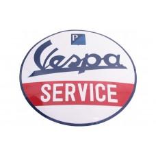 Emaille Bord Vespa Service ø50 cm