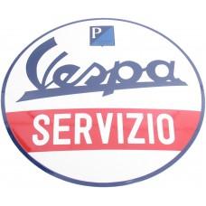 Emaille Bord Vespa Servizio ø50 cm