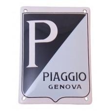 Emaille Plaat 14*10cm Piaggio Genova