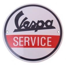 Emaille Plaat ø10cm Vespa Service