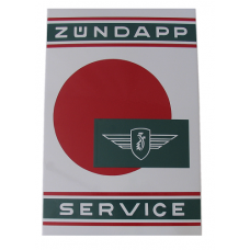 Emaille Bord Zundapp (omgezet) 40*60cm