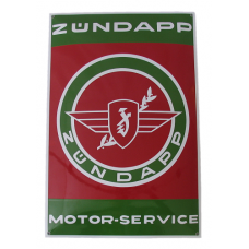 Emaille Bord Zundapp Service 40*60cm