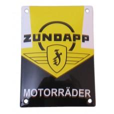 Emaille Plaat 14*10cm Zundapp Motorrader