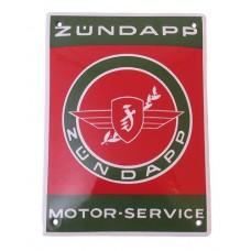 Emaille Plaat 14*10cm Zundapp Motorservice