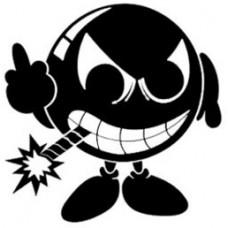 STICKER BOMBY ZWART