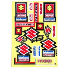 STICKER SPONSORKIT SUZUKI/YELLOW MAGIC