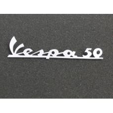Embleem Vespa-50 chroom