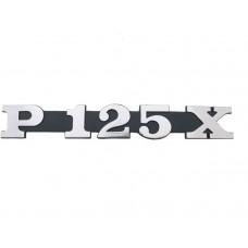 EMBLEEM 'P125X'  (op zijscherm)