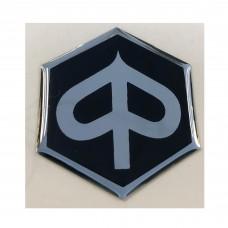 Embleem logo op voorscherm Piaggio Zip2000 / Zip 4T - Zwart